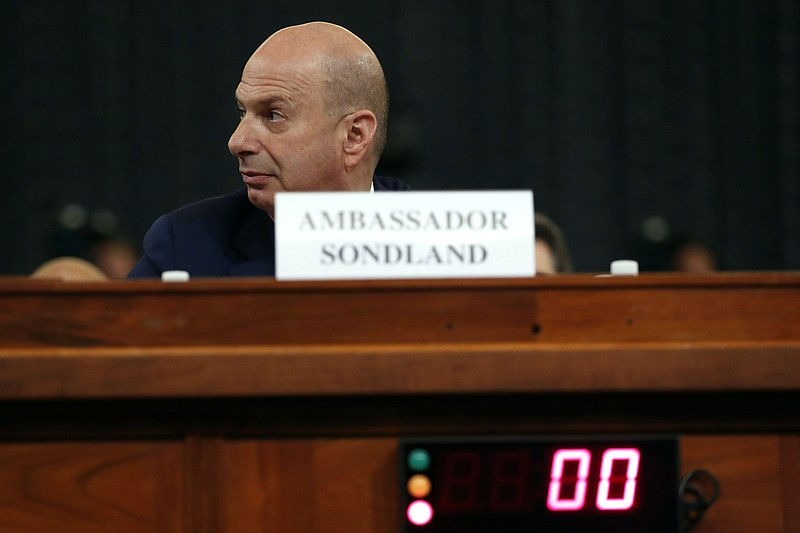 U.S. Ambassador to the European Union Gordon Sondland arrives to testify befo...