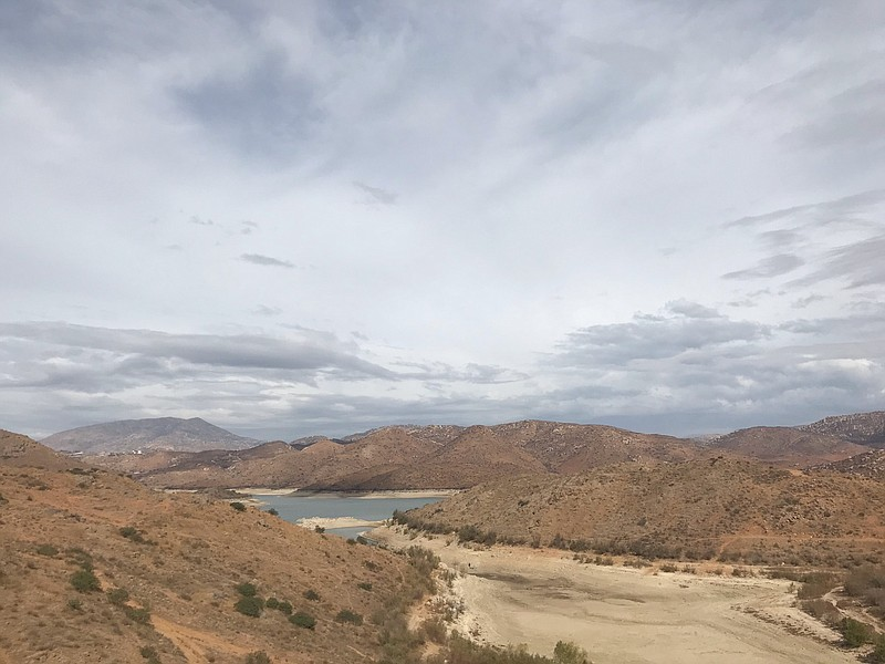 The El Carrizo Reservoir in Tijuana is only at 15% of capacity after a series...