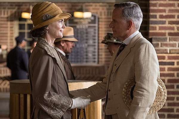 Shown from left to right: Elizabeth McGovern and Campbell...