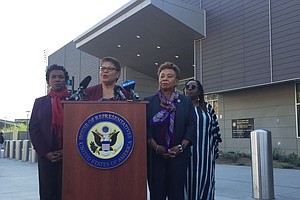 Congressional Black Caucus Visits African Migrants At The...