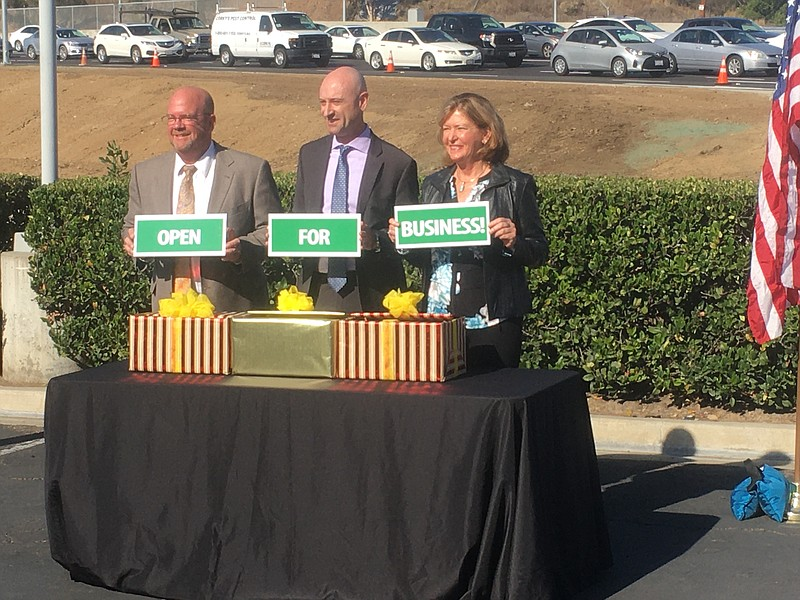 Caltrans and city officials announced the completion of a construction projec...