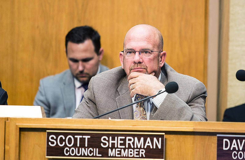 San Diego City Councilman Scott Sherman at a council meeting on June 1, 2015.