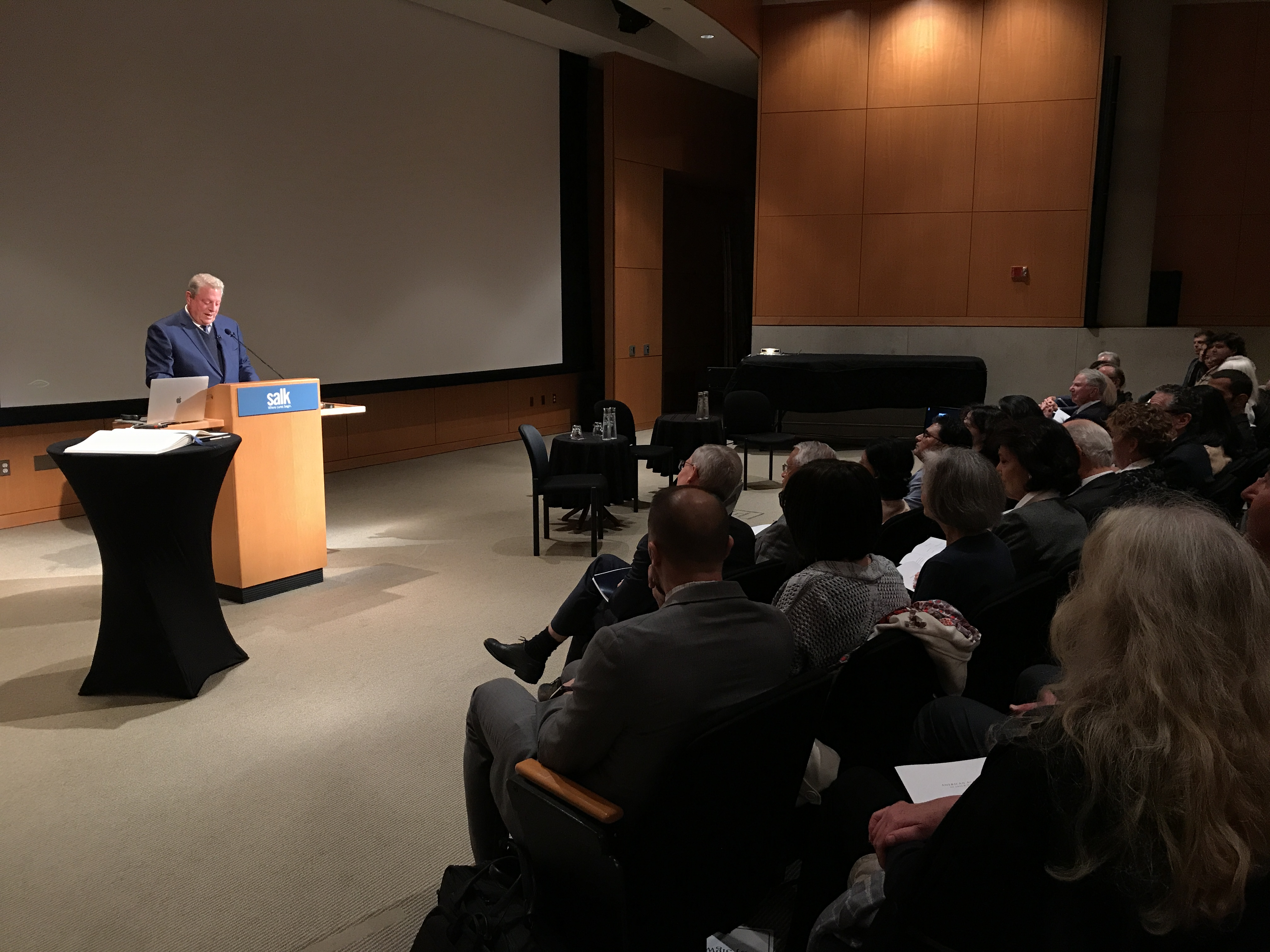 Former VP Al Gore Warns Salk Audience Of Rapidly Warming Climate