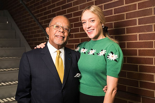 Host Henry Louis Gates, Jr. with actress Chloë Sevigny wh...