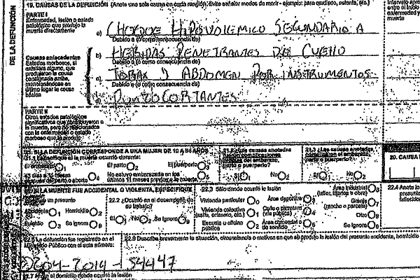The asylum-seeker's death certificate obtained by KPBS on...