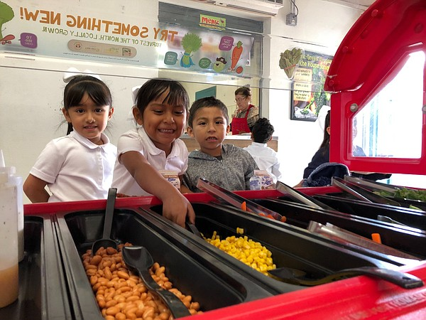 Students are served lunch at Edison Elementary school in ...