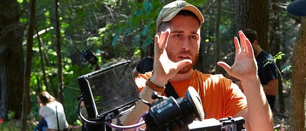 Filmmaker Trey Edward Shults on the set of his 2017 film ...