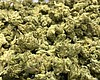 A pile of dried cannabis buds is seen here, Aug...