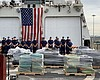 Nine tons of cocaine being offloaded by the U.S...