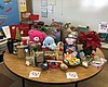 Gifts on a table at John Marshall Elementary Sc...