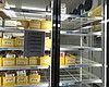 Donated blood in the storage refrigerator at th...