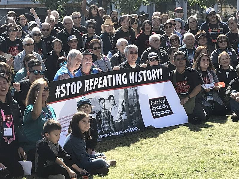 Japanese Latin Americans rallied in San Antonio, Texas, to protest the Trump ...