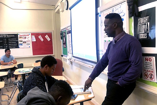 Veteran teacher Darryl McKellar mentors aspiring male tea...