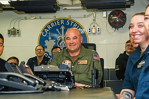 Photo for Carrier USS Lincoln Headed For San Diego After Record Deployment
