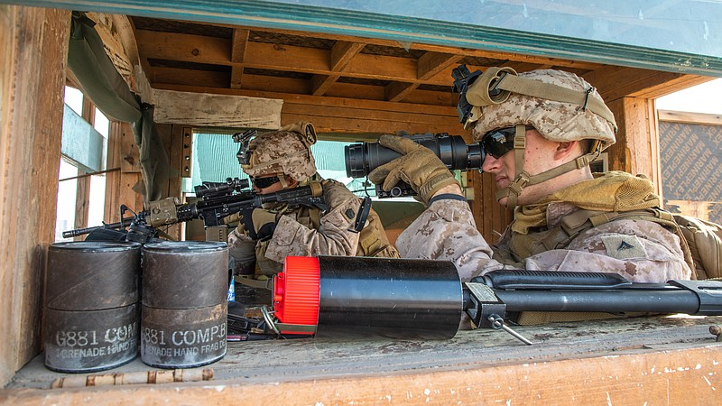 Marines from Special Purpose Marine Air-Ground Task Force (MAGTF) Crisis Resp...