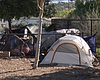 A homeless encampment in Spring Valley on Janua...