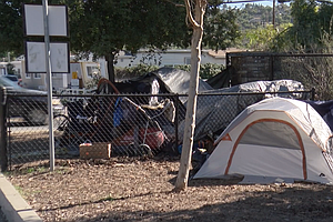 Photo for Homeless Encampment In Spring Valley Shows Spread Of San Diego's Homeless Crisis