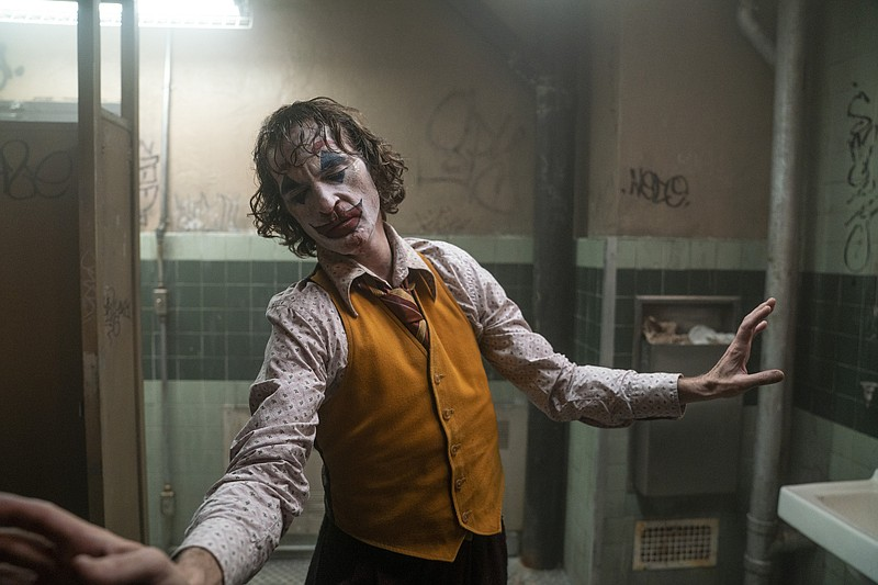 This image released by Warner Bros. Pictures shows Joaquin Phoenix in a scene...