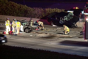 Photo for Wrong-Way Crash Kills 2, Seriously Injures 1 On I-5 In Carlsbad