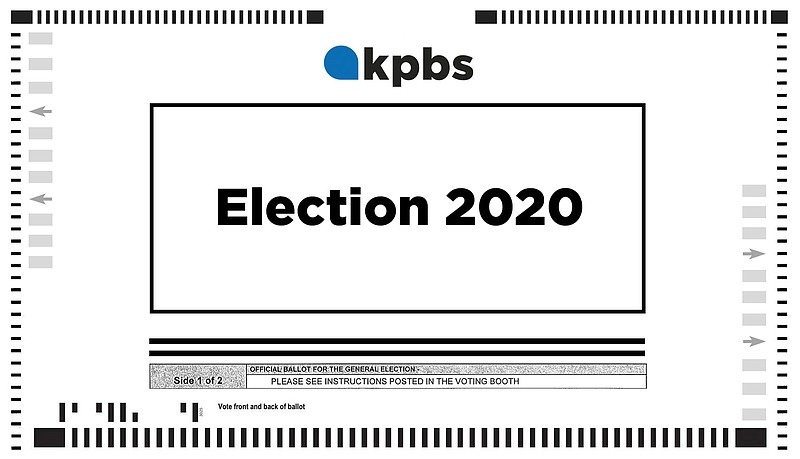 A sample ballot in this file graphic, January 2020.