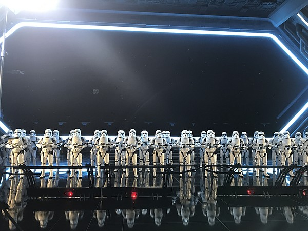 The impressive line up of Stormtroopers that await you in...
