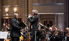 Music director Franz Welser-Möst conducts the c...