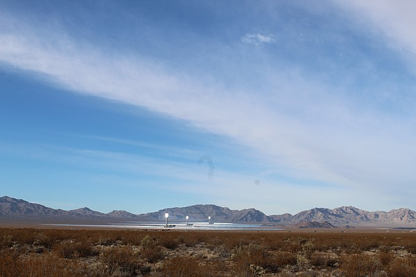 The Ivanpah solar thermal project's glowing towers, which...