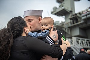 Photo for USS Lincoln Arrives In San Diego After Record-Breaking Deployment
