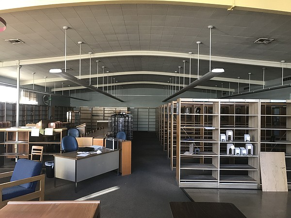 The vacant interior of the old Mission Hills library bran...