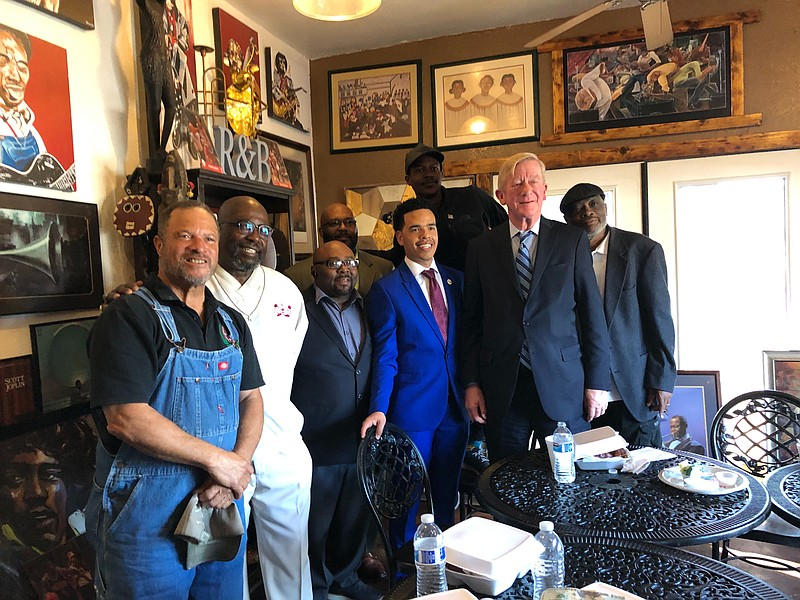Republican presidential candidate Bill Weld met with local African American l...