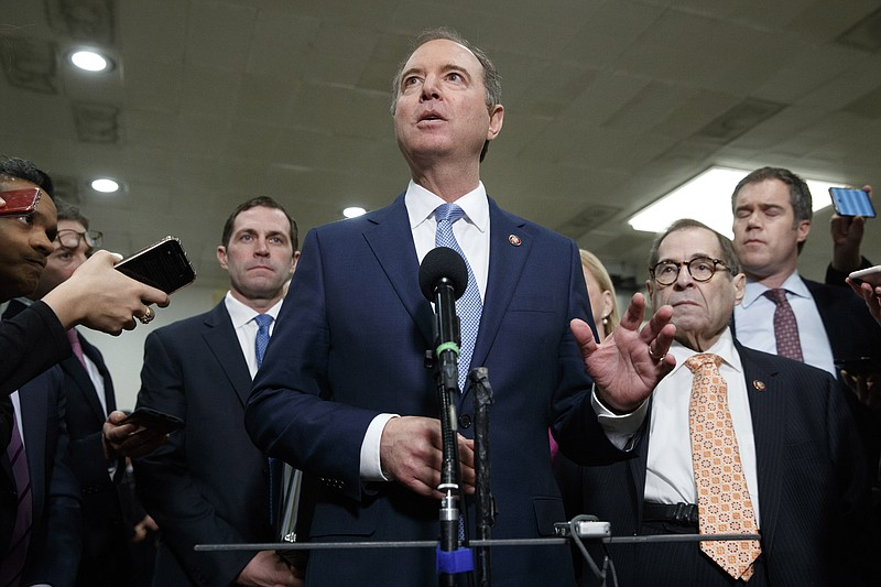 House Democratic impeachment managers including House Intelligence Committee ...