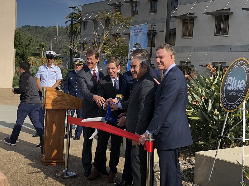 Officials celebrate the launch of the Blue Technology Center of Expertise at ...