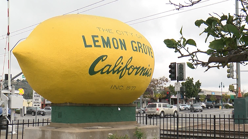 The Lemon Grove sign is pictured, Jan. 21, 2020.