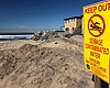 Pollution warning sign posted in Imperial Beach...