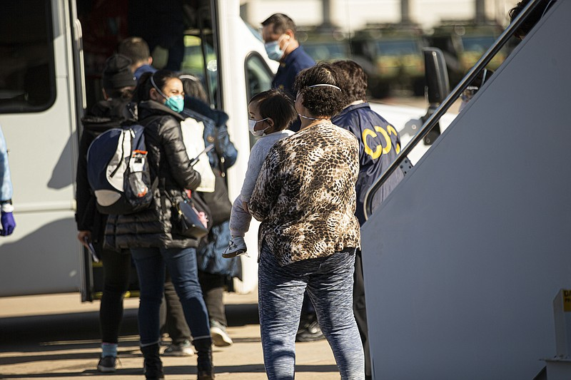 American evacuees arriving at MCAS Miramar from Wuhan, China on Feb. 6, 2020.