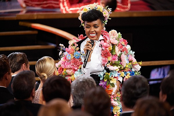 Janelle Monáe performs (in a costume recalling