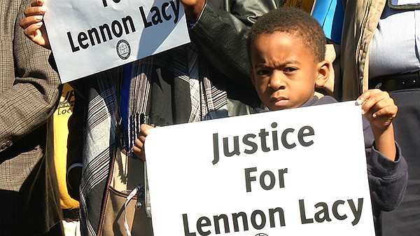 Hundreds rally for Lennon Lacy, 17, who was found hanging...