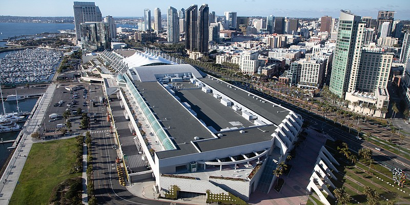 The San Diego Convention Center is shown on Jan. 22, 2020.