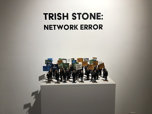 A picture of an art installation by Trish Stone at the Il...