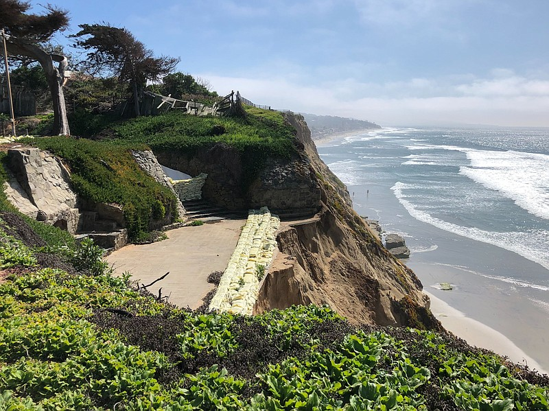 FIle photo of a bluff in Del Mar taken on Feb. 25, 2020.