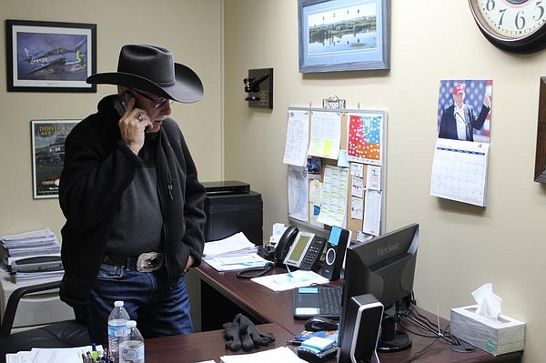 Ray Beck, who is a Moffat County, Colorado commissioner a...