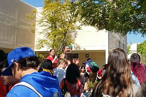 Photo for Students Walkout Over Proposed Cuts At Sweetwater Union High School District