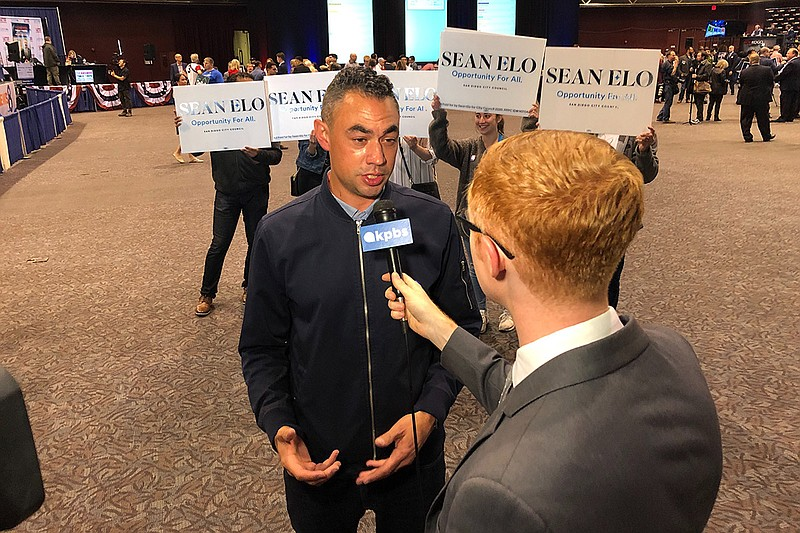 San Diego City Council District 9 candidate Sean Elo speaks to KPBS Metro Rep...