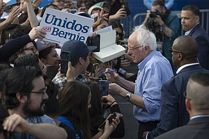 Photo for Sanders' Focus On Latino Voters In California Pays Off