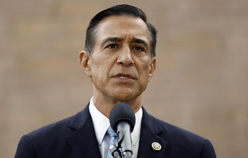 In this Sept. 26, 2019 file photo, former Republican congressman Darrell Issa...