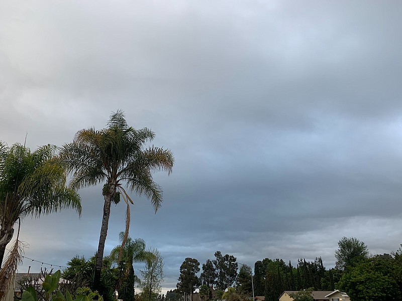 Storm clouds over San Carlos, March 10, 2020.