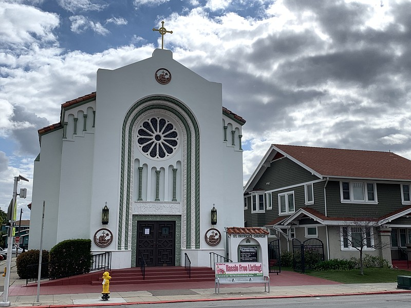 St. Patrick Catholic Parish in North Park is seen here, March 15, 2020.