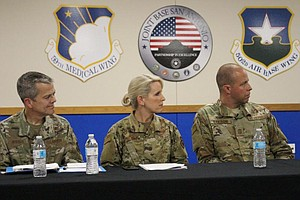 Photo for In A Virtual Townhall, A Military Community Shares Its Coronavirus Concerns