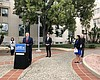 San Diego county leaders announcing the launch ...