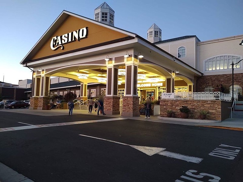 People entering the Barona Resort and Casino in this undated photo.